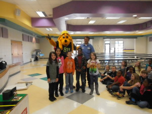 Digger Dog was joined by  some 3rd grades and Richard Martin with City of Monticello Utilities.