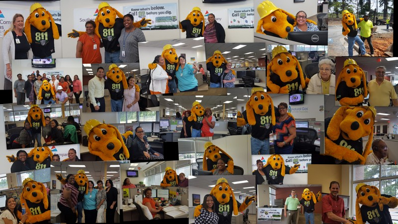 811 day with Southern Company Gas 8-11-2016